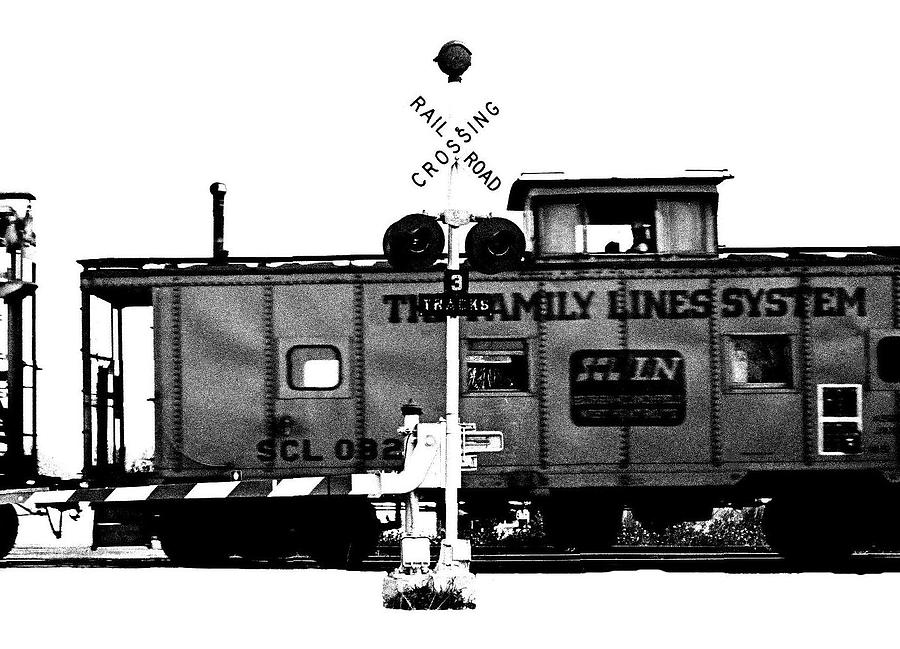 Black And White Photograph - Train Tryptic C Of C by Richard Gerken