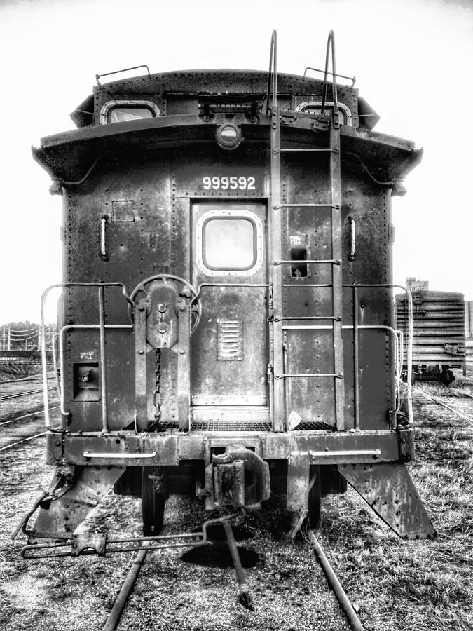 Train Photograph - Train Waiting In Atchison Kansas by Dustin Soph