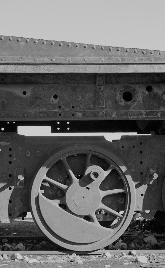 Train Photograph - Train Wheel by Marcus Best