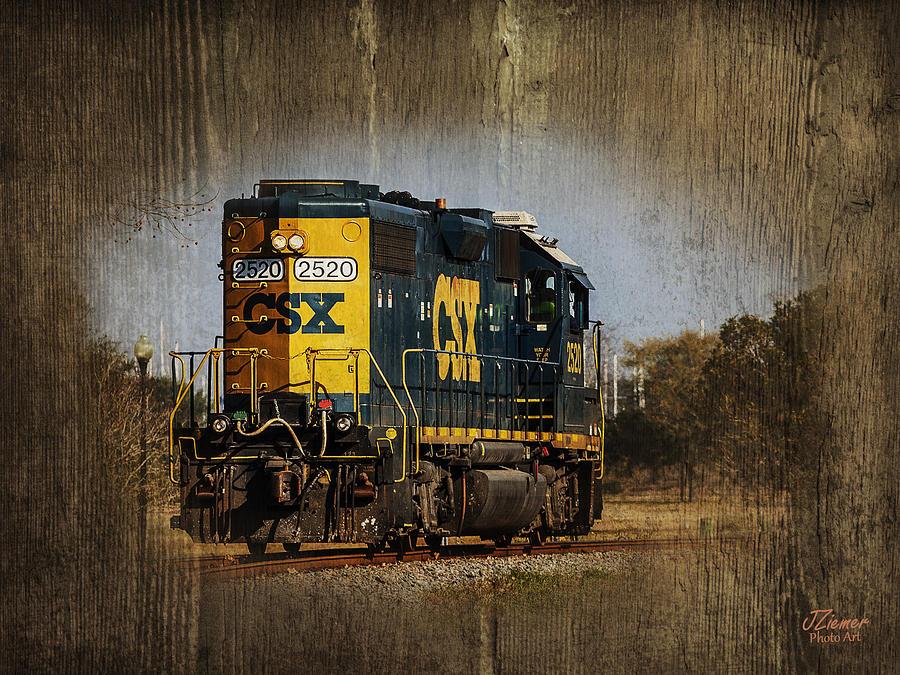 Train Photograph - Train Yard 2 by Jim Ziemer