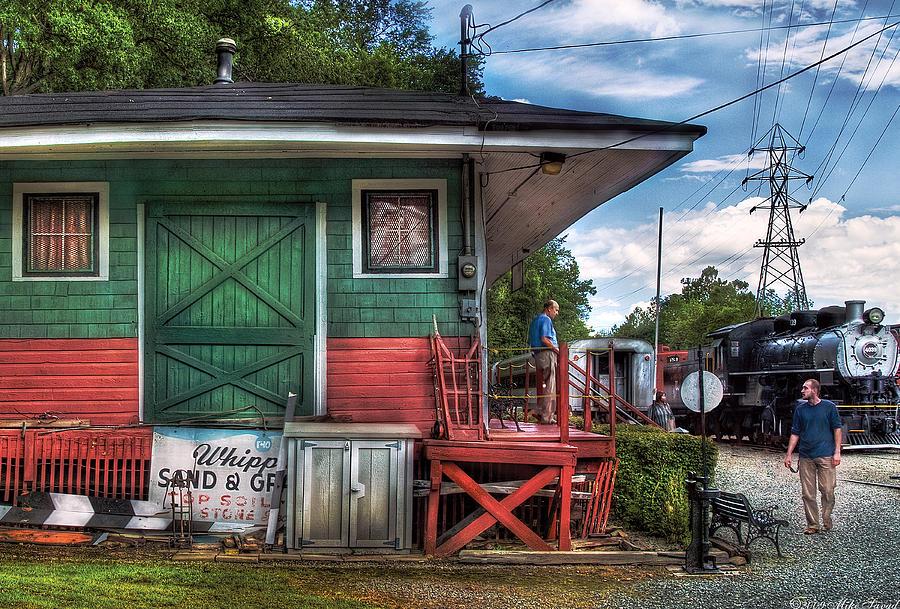 Savad Photograph - Train - Yard - The Train Station by Mike Savad