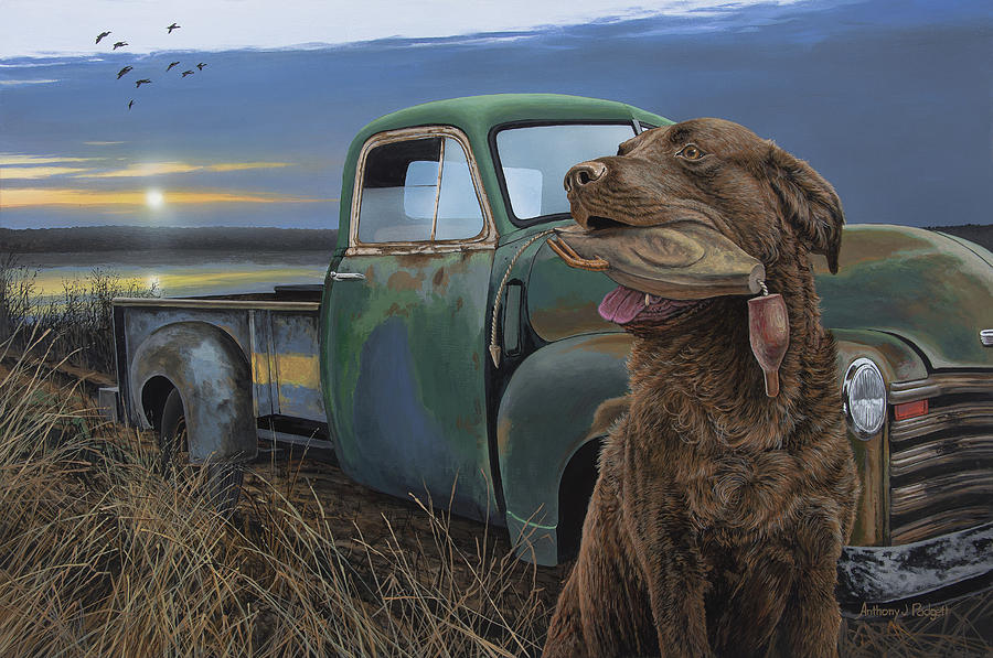 Chessie Painting - Training Grounds by Anthony J Padgett