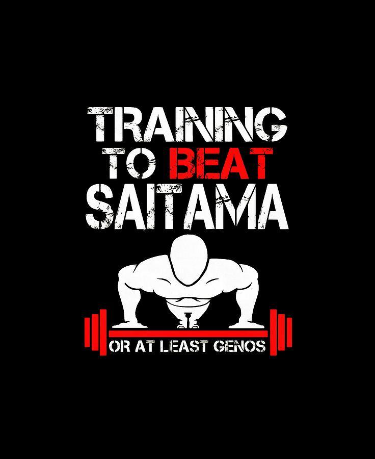 Training To Beat Saitama Digital Art by Artanti Devinka