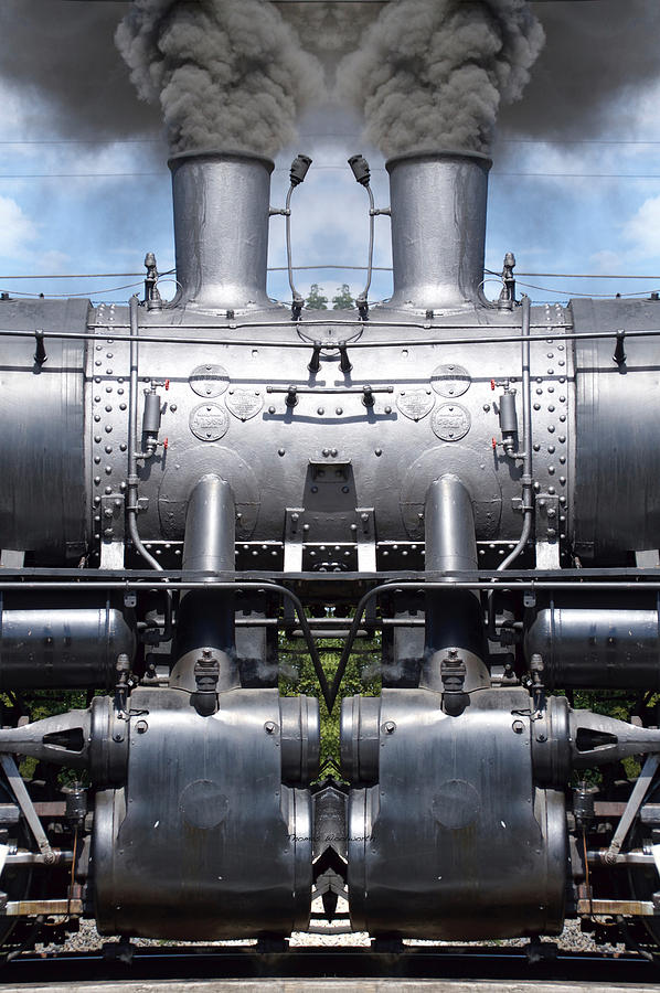 Steam Train Mirror