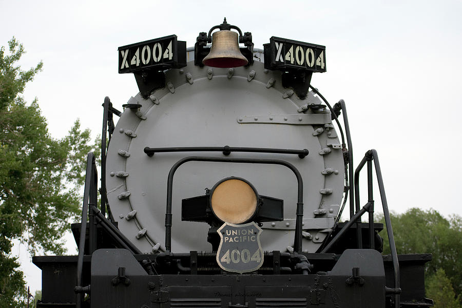 4004 Photograph - Trains Union Pacific Big Boy 4004 Front End by Thomas Woolworth