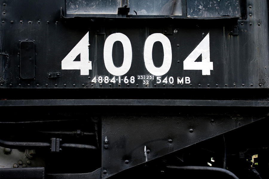 Trains Union Pacific Big Boy 4004 Signage Photograph By Thomas Woolworth