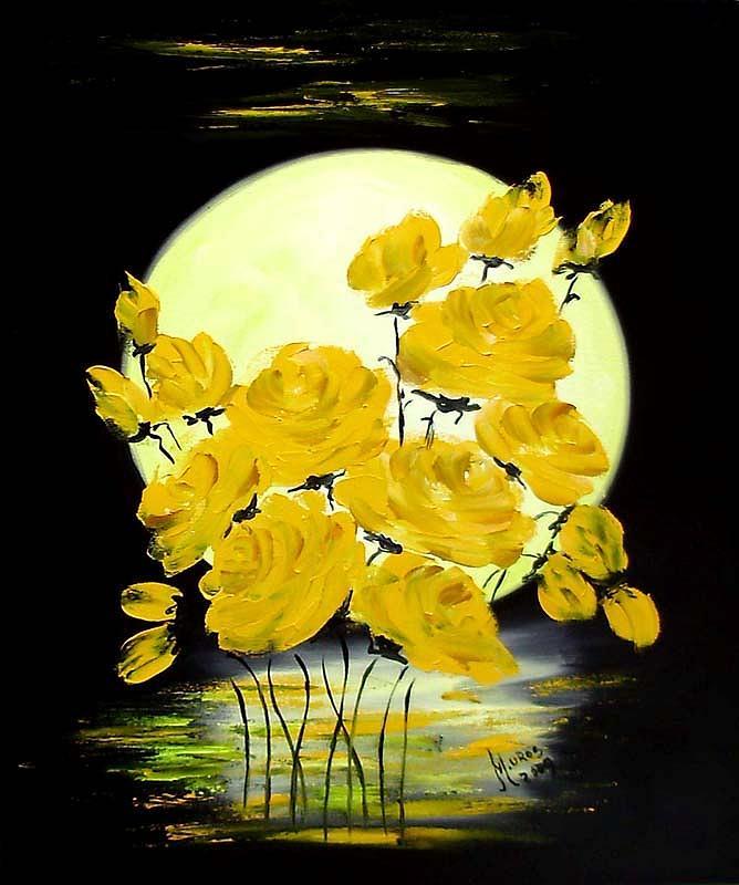Roses Painting - Trandafiri De Luna by Mariana Oros