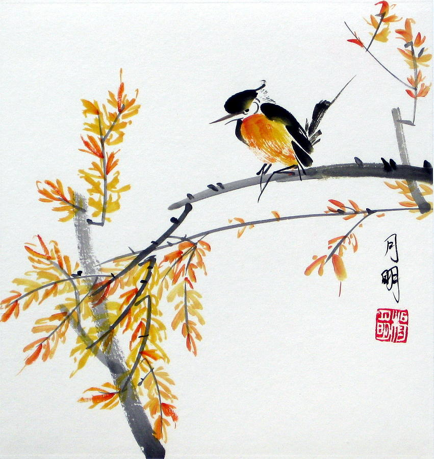 Chinese Painting Painting - Tranquil Charm  by Ming Yeung