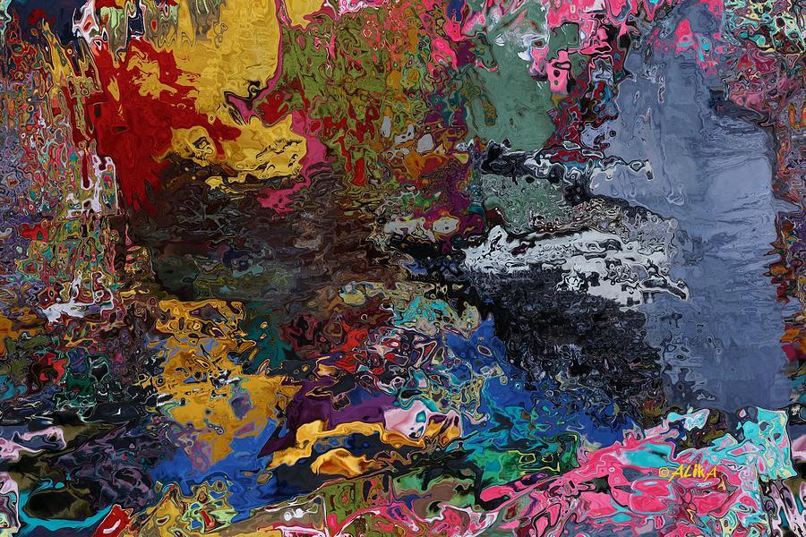 Tranquil Digital Art - Tranquil Escape-1 by Alika Kumar