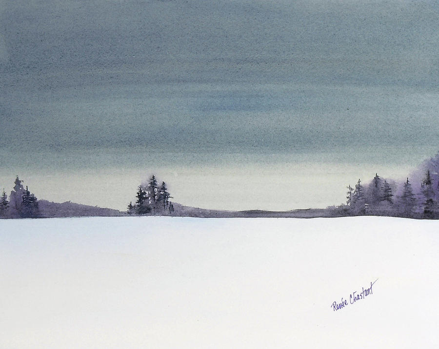 Landscape Painting - Tranquil Night by Renee Chastant
