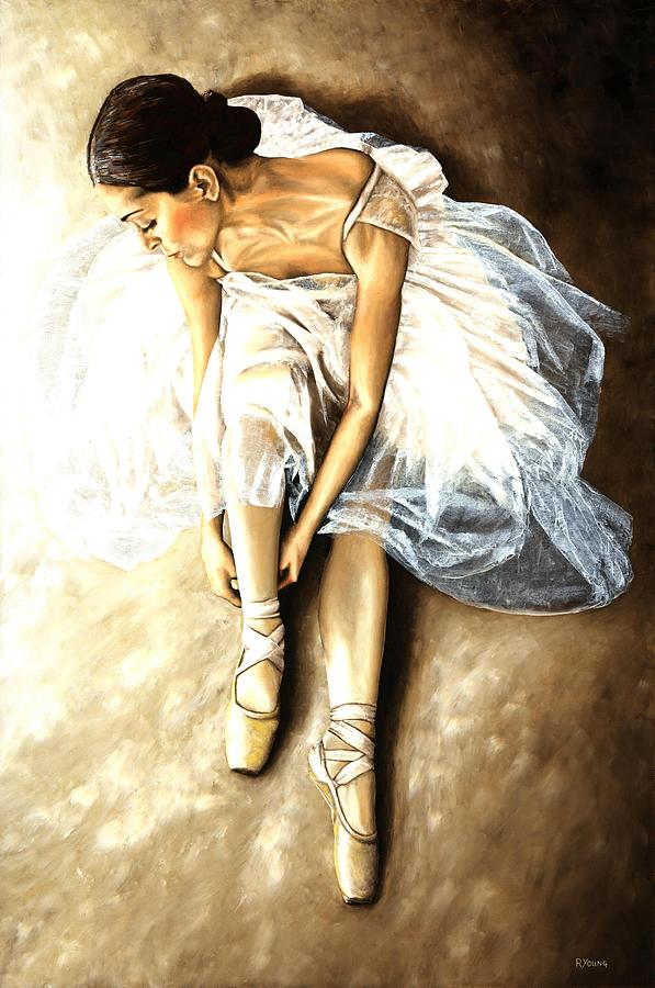 Ballet Painting - Tranquil Preparation by Richard Young