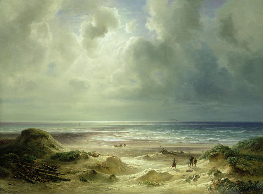 Ocean Painting - Tranquil Sea by Carl Morgenstern