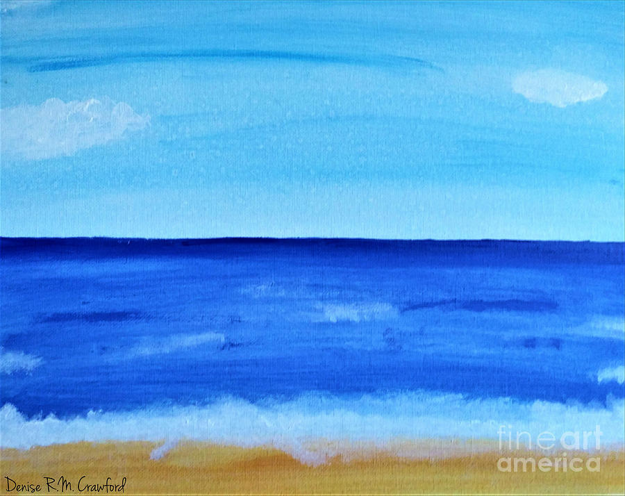 Tranquil Seascape Painting By Waterflower Designs