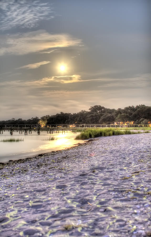 Full Moon Photograph - Tranquil Southern Night by Dustin K Ryan