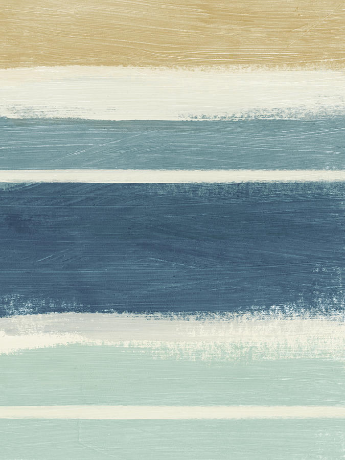 Stripes Painting - Tranquil Stripes- Art By Linda Woods by Linda Woods