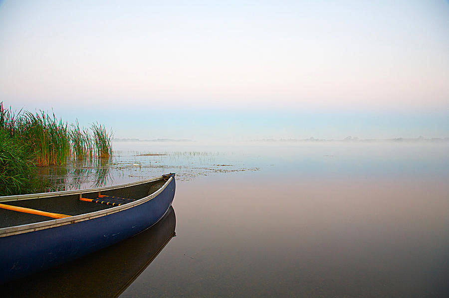 Canoe Photograph - Tranquil by Theo Tan