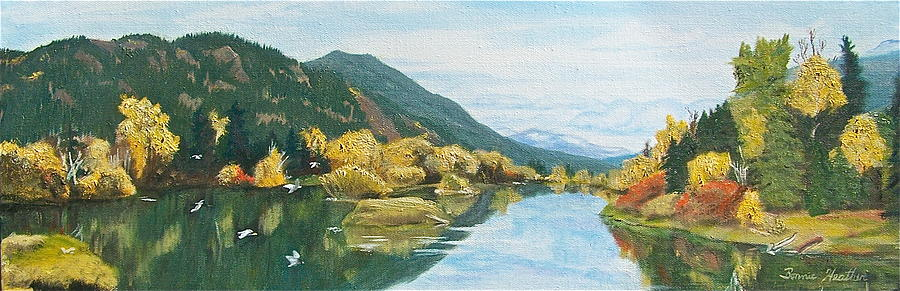 Oil Painting - Tranquil Waters by Bonnie Heather