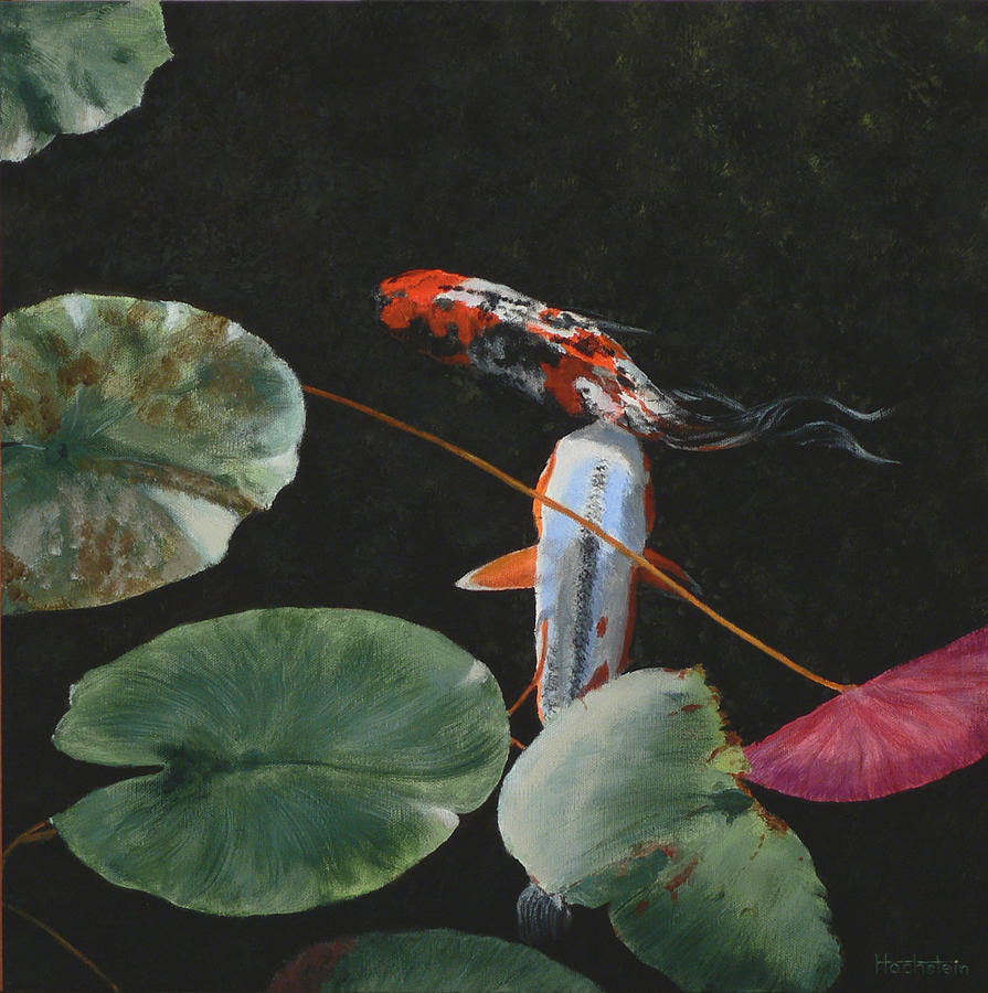 Koi Painting - Tranquility by Daniel Hochstein