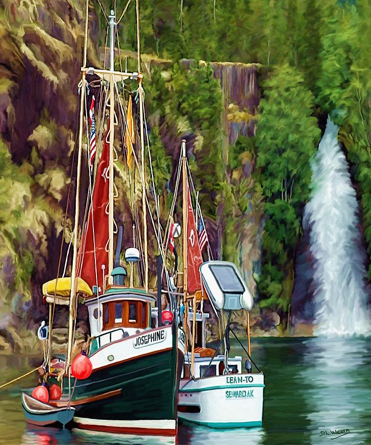 Boats Painting - Tranquility by David Wagner