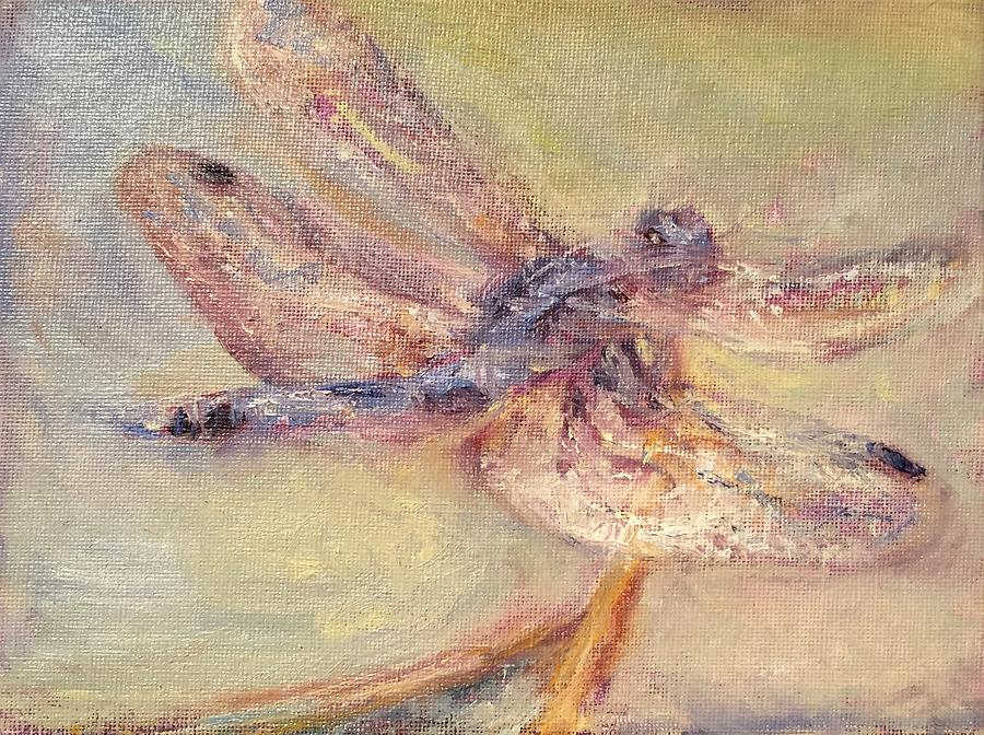 Tranquility - Dragonfly Painting - Impressionist Original by Quin Sweetman