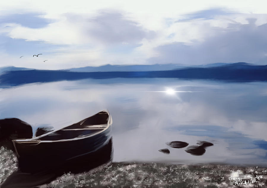 Tranquility on Yellowstone Lake by Michael Hodgson