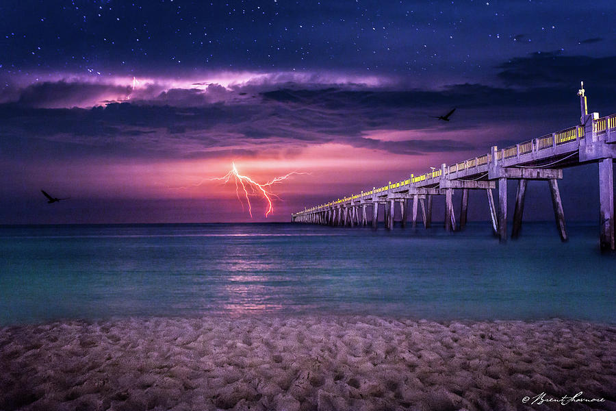 Tranquility- Pensacola Beach Digital Art by Brent Shavnore