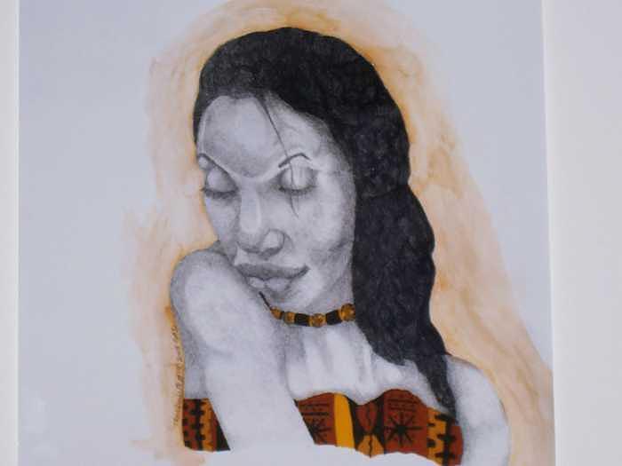 Tranquity II Drawing by Glenn Isaac