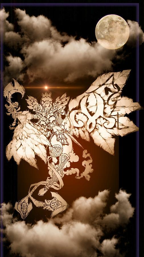 Fantasy Landscape Drawing - Transcending Angel by Louis Williams