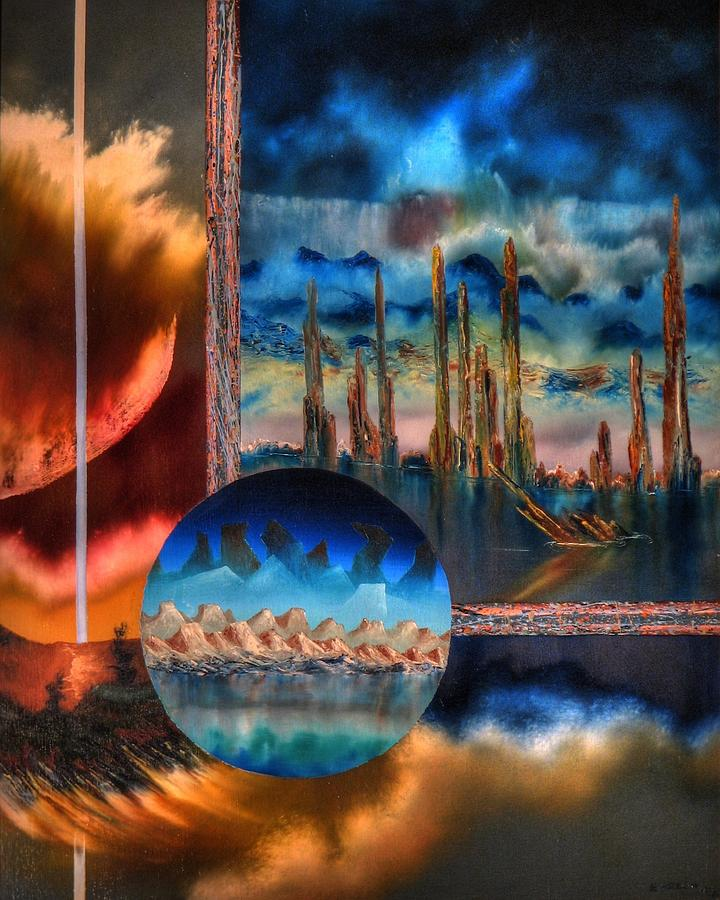 Transendetal .heavens Splitting Painting by Joseph Ewasow