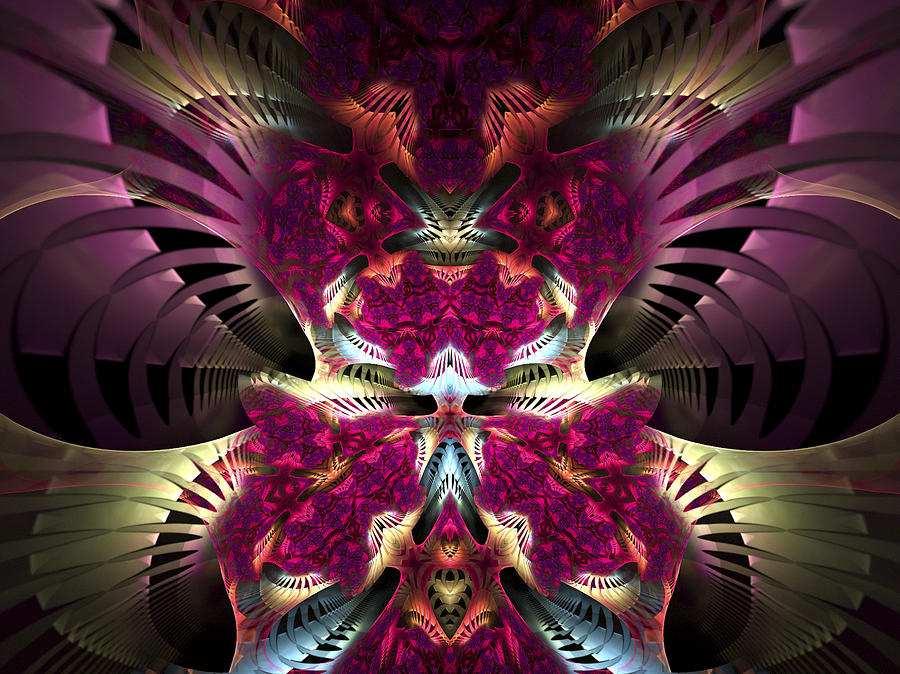 Fractal Digital Art - Transfigured Future by Amorina Ashton
