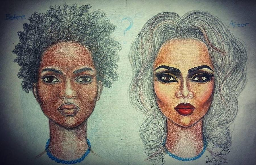 African Painting - Transformation by Mahlet Gebre