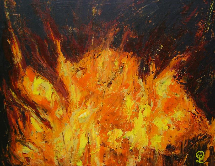 Transformation through fire I Painting by Therese Legere