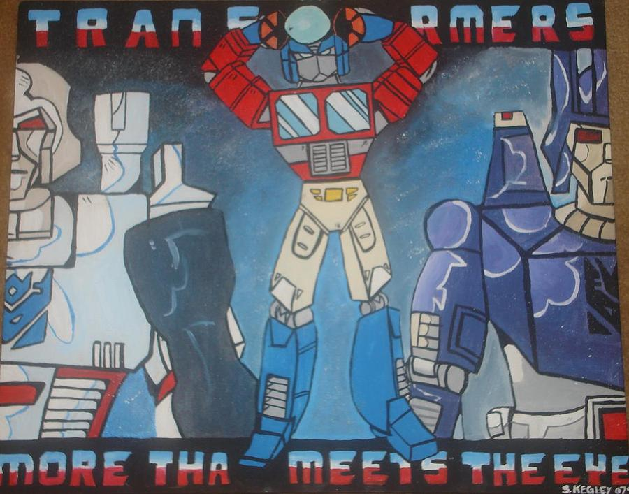 Transformers Painting - Transformers Classic by Sarah Kegley