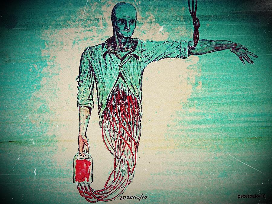 Blood Transfusion Digital Art - Transfusion Uninterrupted by Paulo Zerbato