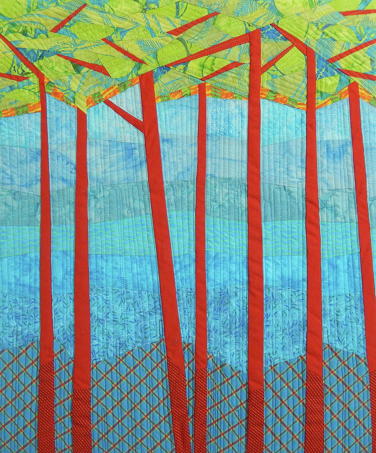 Tree Tapestry - Textile - Transitions 1 by Linda Beach