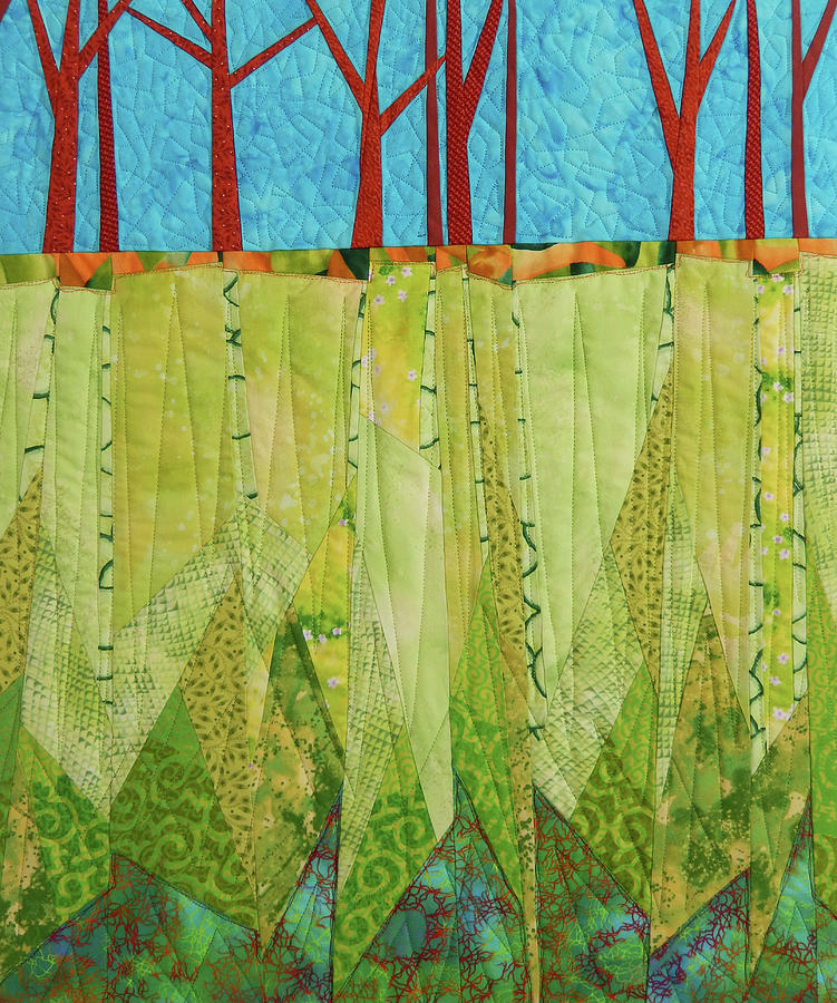 Tree Tapestry - Textile - Transitions 3 by Linda Beach
