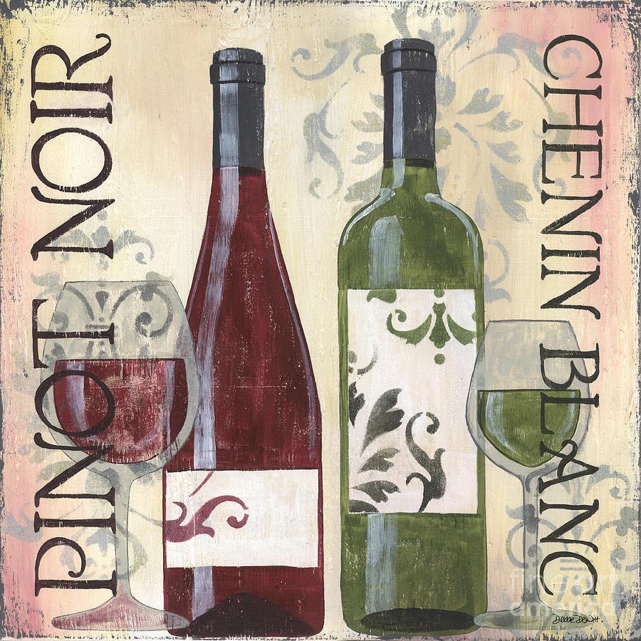 Wine Painting - Transitional Wine 1 by Debbie DeWitt
