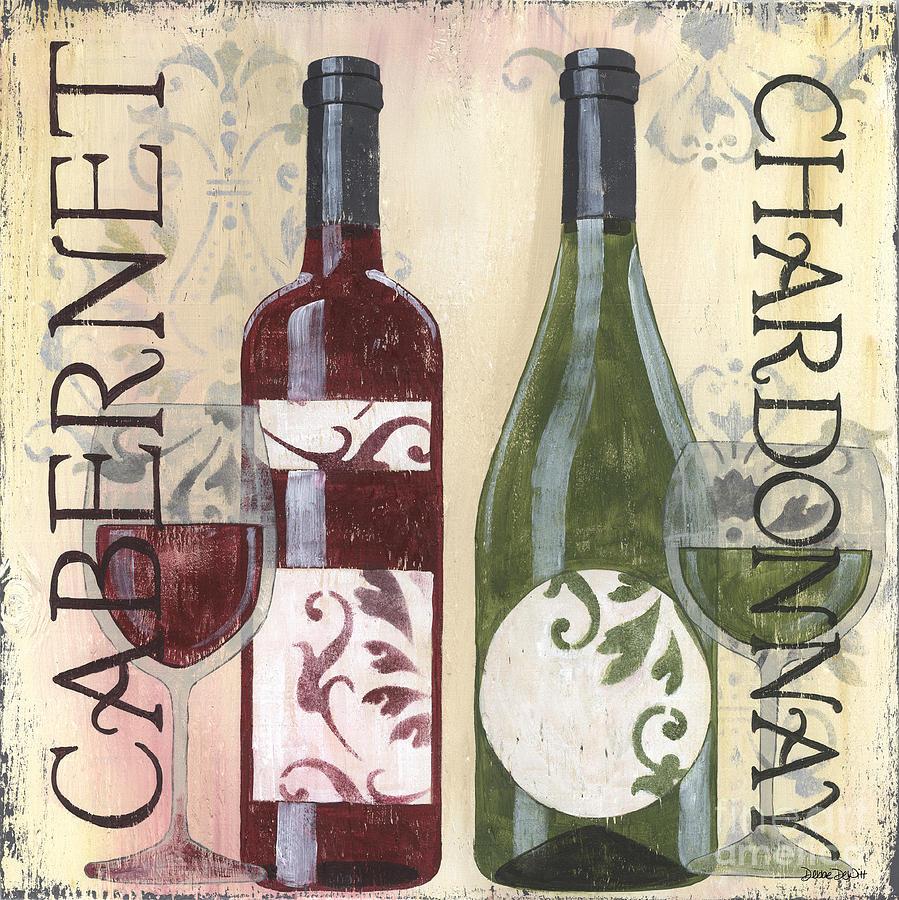 Wine Painting - Transitional Wine 2 by Debbie DeWitt