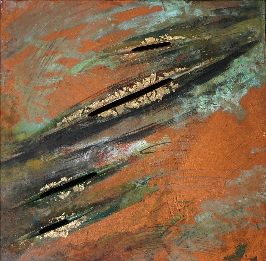 Copper Painting - Transitory Marks Iv by Dodd Holsapple