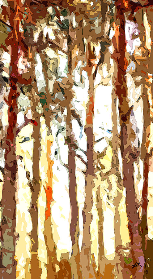 Abstract Expressionism Digital Art - Translucent Forest by Linda Mears