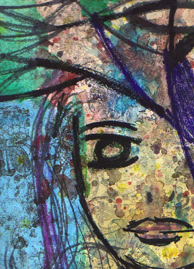 Woman Painting - Transparency by Janpen Sherwood