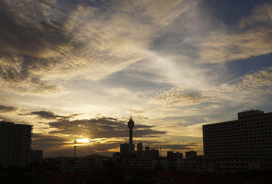 Atmosphere Photograph - Transpicuous Balcony Sunset #0010 by Don Charisma