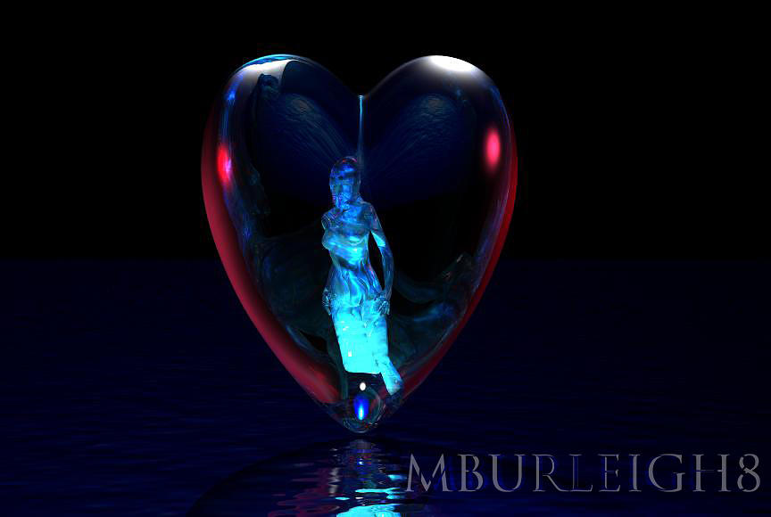 Bryce Digital Art - Traped In Love by Michael Burleigh