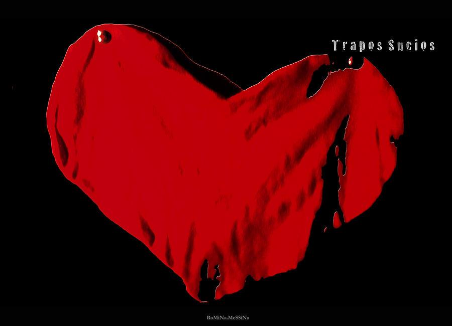 Hearts Photograph - Trapos Sucios by Romina Messina