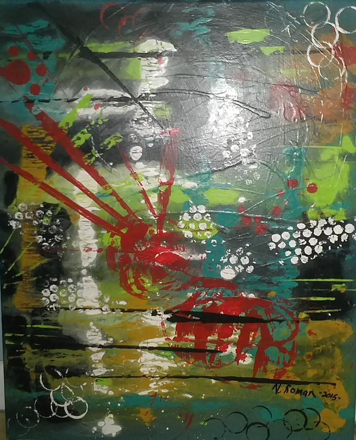 Bold Painting - Trapped Soul by Norma Roman