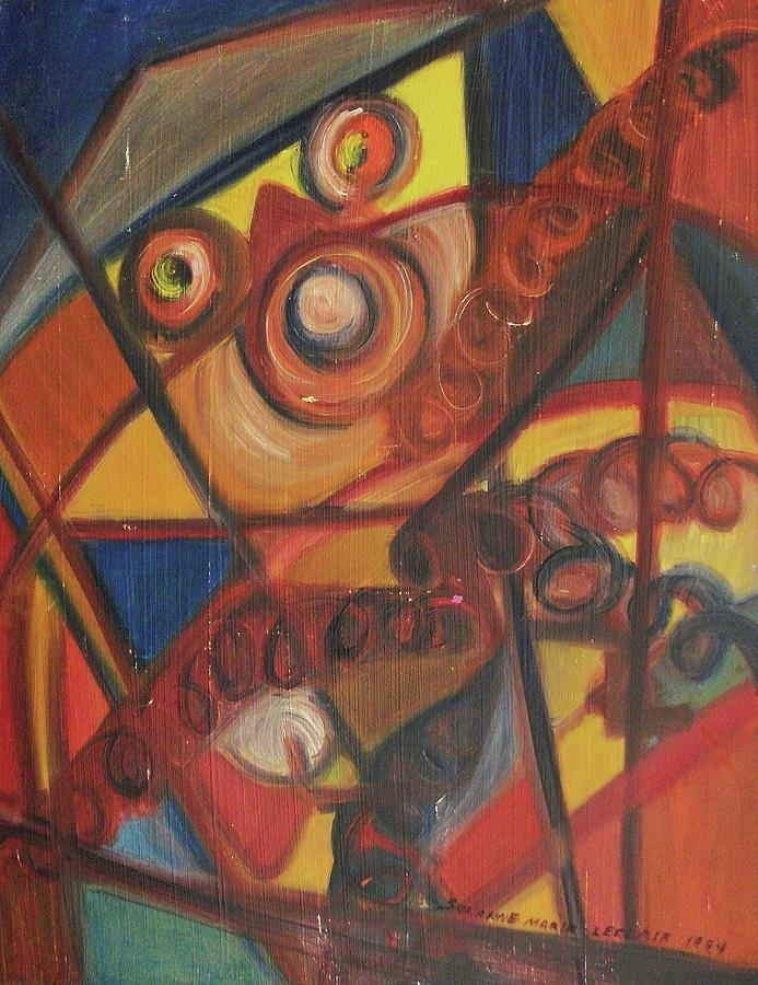 Abstract Painting - Trapped by Suzanne  Marie Leclair