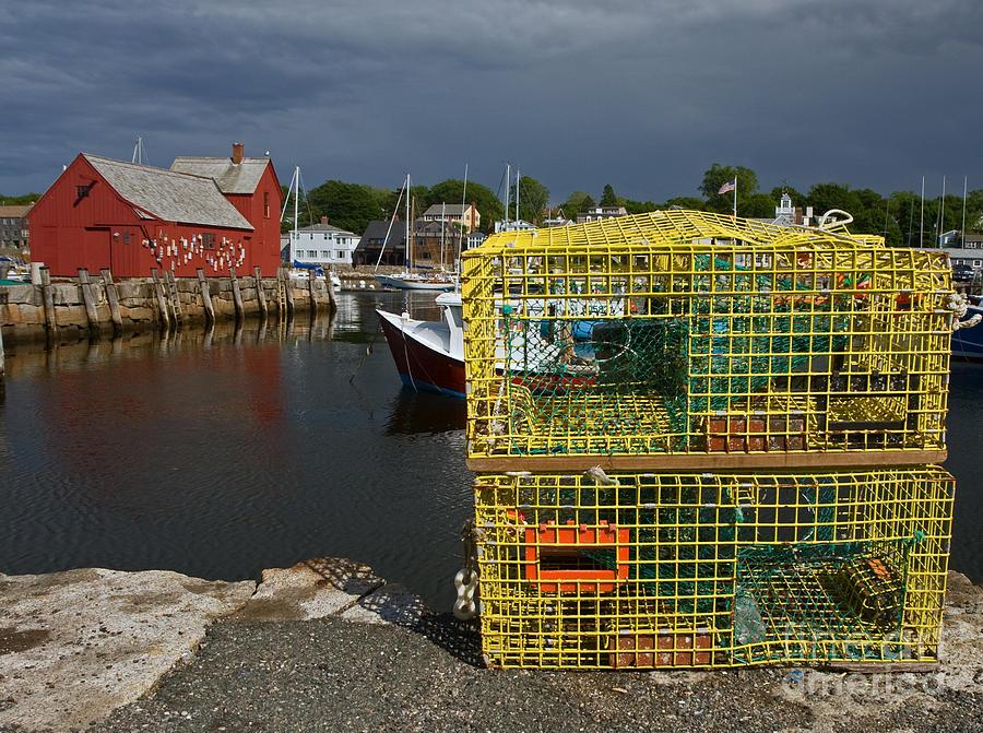 Lobster Traps Photograph - Traps By Motif No. 1 by Robert Pilkington