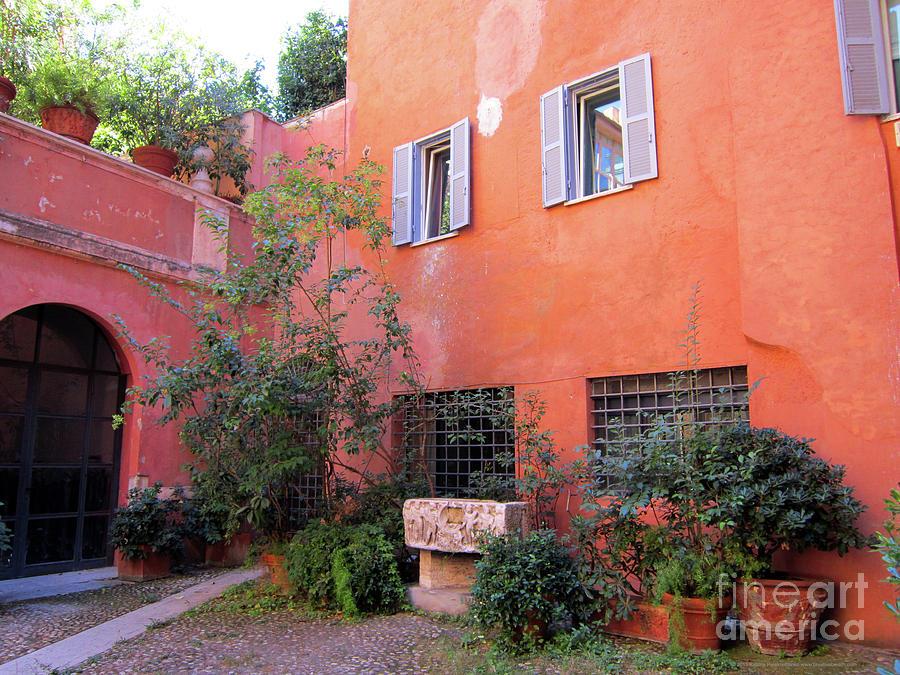 Architecture Photograph - Trastevere Courtyard by Katrina Perekrestenko