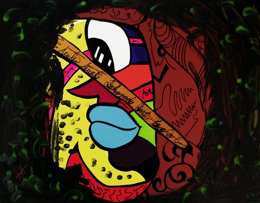 Abstract Painting - Trauma by Goyo Angulo