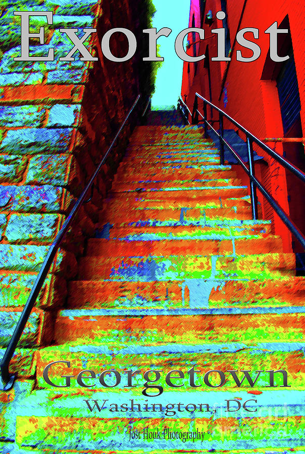 Georgetown Photograph - Travel-exorcist Steps by Jost Houk